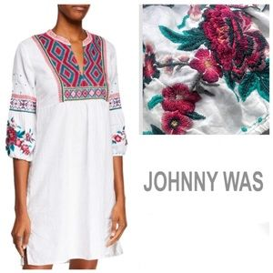 Johnny Was ANNALIESE BISHOP SLEEVE PEASANT DRESS